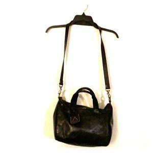 Kelsi Dagger black leather clutch/crossbody